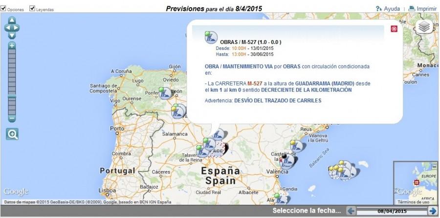 Maapa prevision trafico - DGT