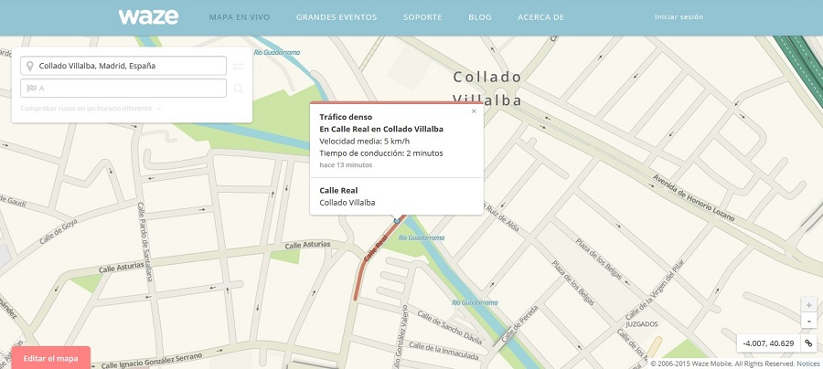 Mapa confeccionado con información ciudadana.